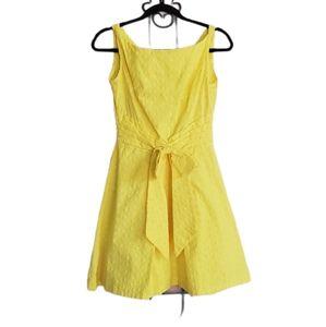 No Label yellow dress sleeveless zipper in back b